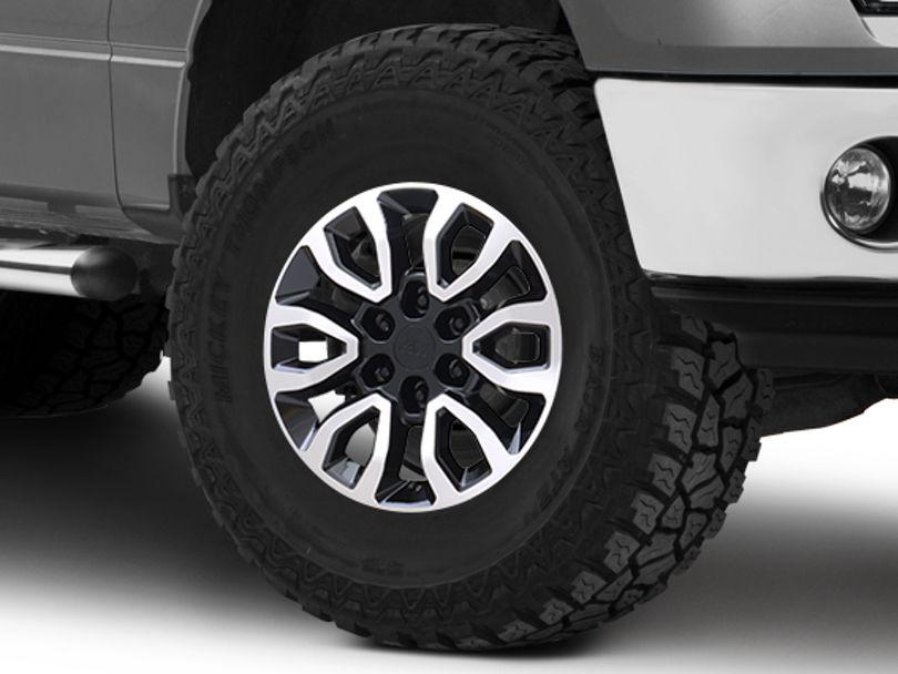 Gen2 Raptor Style Black Machined 6-Lug Wheel; 17x8.5; 34mm Offset (09-14 F-150)