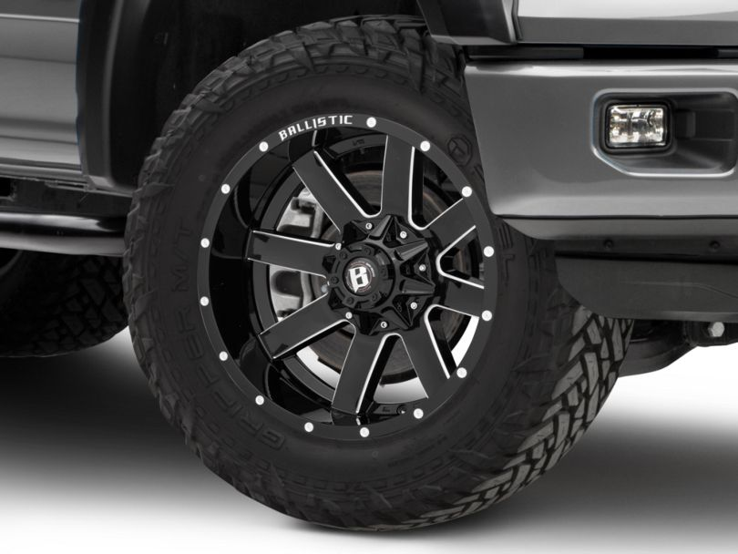 Ballistic Rage Gloss Black Milled 6-Lug Wheel - 20x10; -19mm Offset (15-19 F-150)