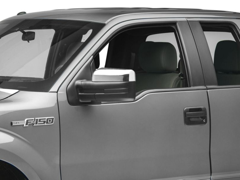 Upper Mirror Covers; Chrome (09-14 F-150 w/o Towing Mirrors)