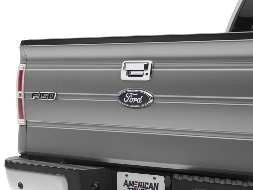 Tailgate Handle Cover; Chrome (04-14 F-150)