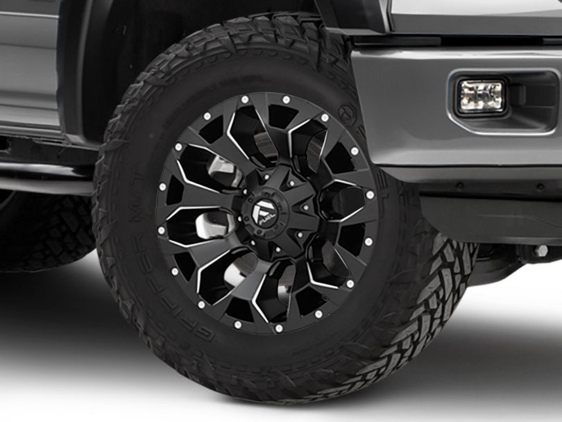 Fuel Wheels Assault Black Milled 6-Lug Wheel - 18x9; 1mm Offset (15-19 F-150)