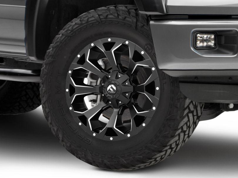 Fuel Wheels Assault Black Milled 6-Lug Wheel - 20x9 (15-19 F-150)