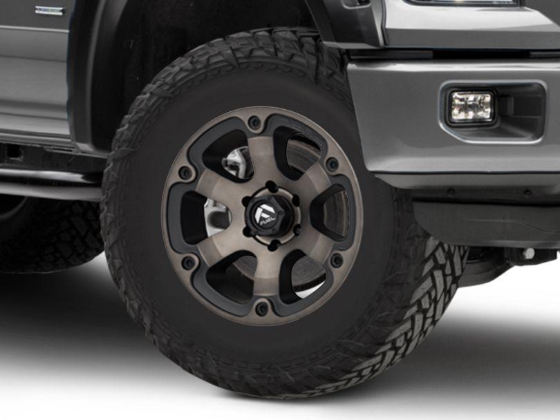 Fuel Wheels Beast Matte Black Machined 6-Lug Wheel; 18x9; 1mm Offset (15-20 F-150)