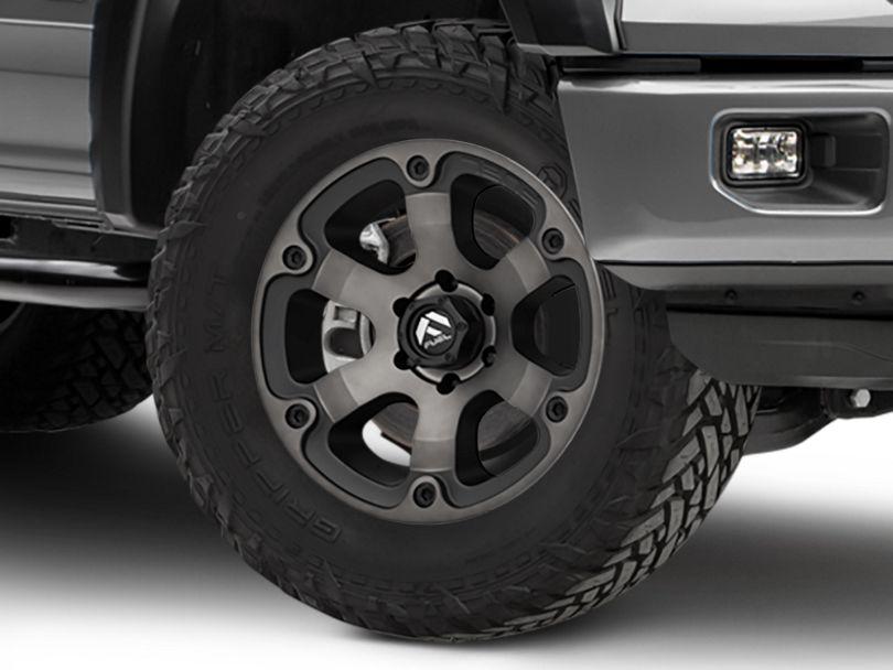 Fuel Wheels Beast Matte Black Machined 6-Lug Wheel - 18x9 (15-19 F-150)