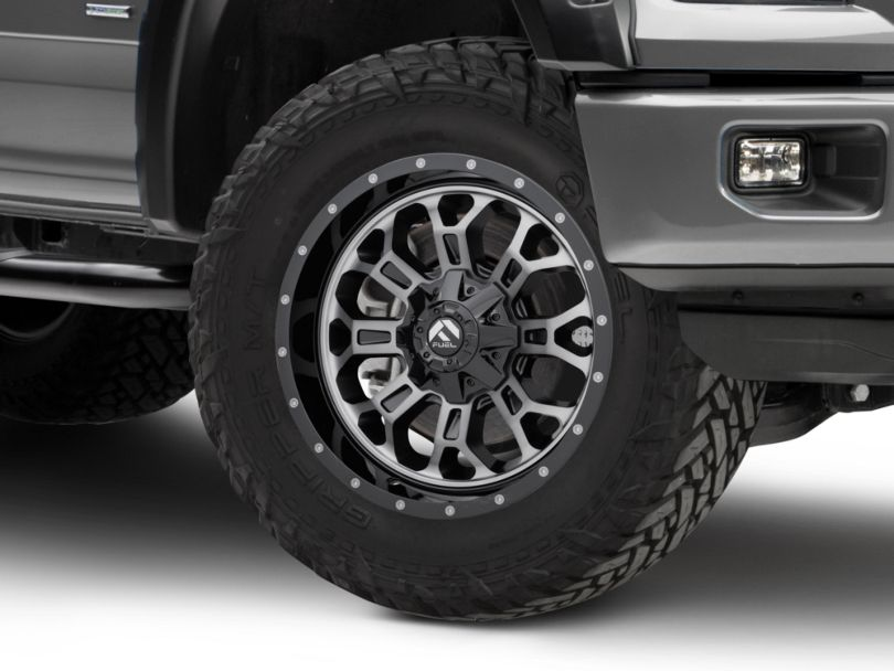 Fuel Wheels Crush Matte Black Machined 6-Lug Wheel - 20x9 (15-19 F-150)