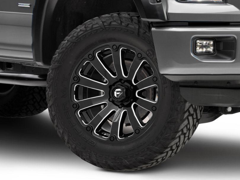 Fuel Wheels Diesel Gloss Black Milled 6-Lug Wheel; 20x9 (15-20 F-150)