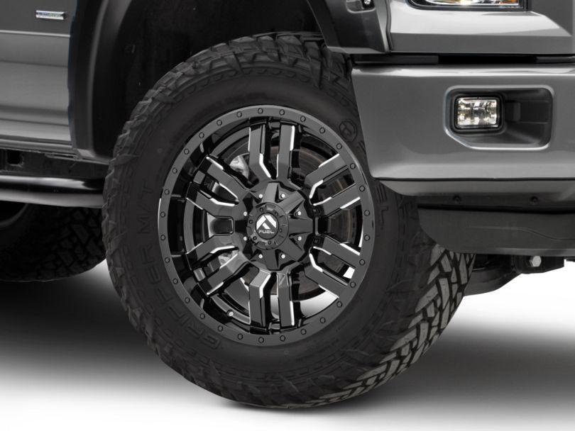 Fuel Wheels Sledge Gloss Black Milled 6-Lug Wheel - 20x9 (15-19 F-150)