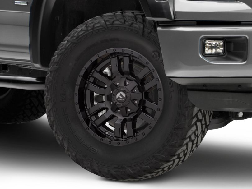Fuel Wheels Sledge Gloss and Matte Black 6-Lug Wheel; 18x9; -12mm Offset (15-20 F-150)