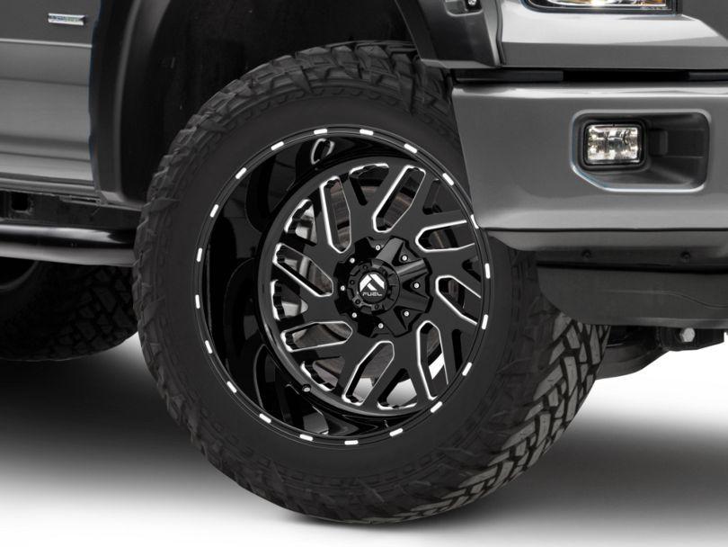 Fuel Wheels Triton Gloss Black Milled 6-Lug Wheel - 22x12; -43mm Offset (15-19 F-150)