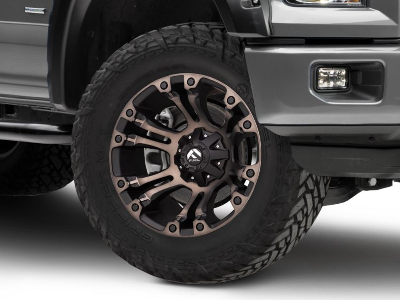 Fuel Wheels Vapor Matte Black Machined 6-Lug Wheel - 20x10; -18mm Offset (15-20 F-150)
