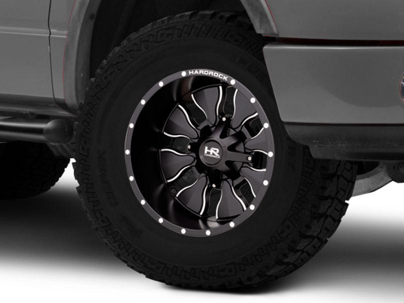 Hardrock Offroad H702 Insane Satin Black Milled 6-Lug Wheel; 20x12; -44mm Offset (04-08 F-150)