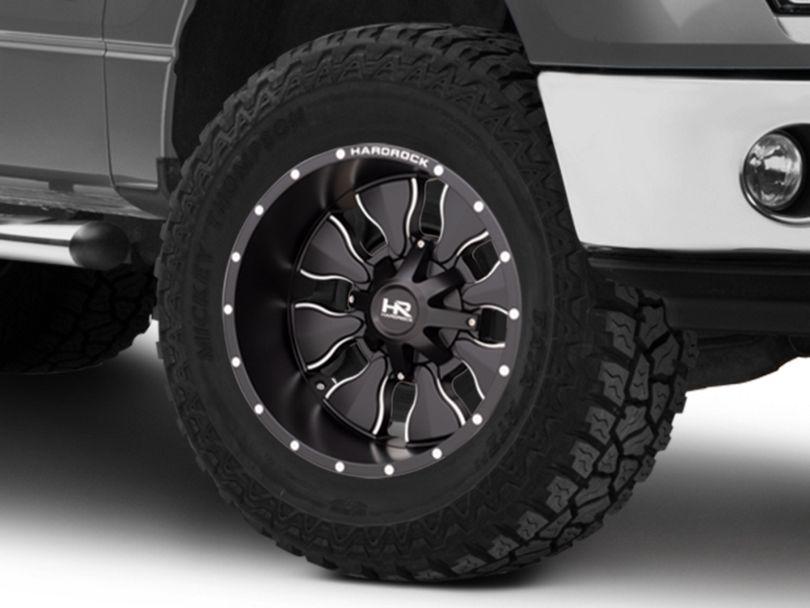 Hardrock Offroad H702 Insane Satin Black Milled 6-Lug Wheel; 20x12; -44mm Offset (09-14 F-150)