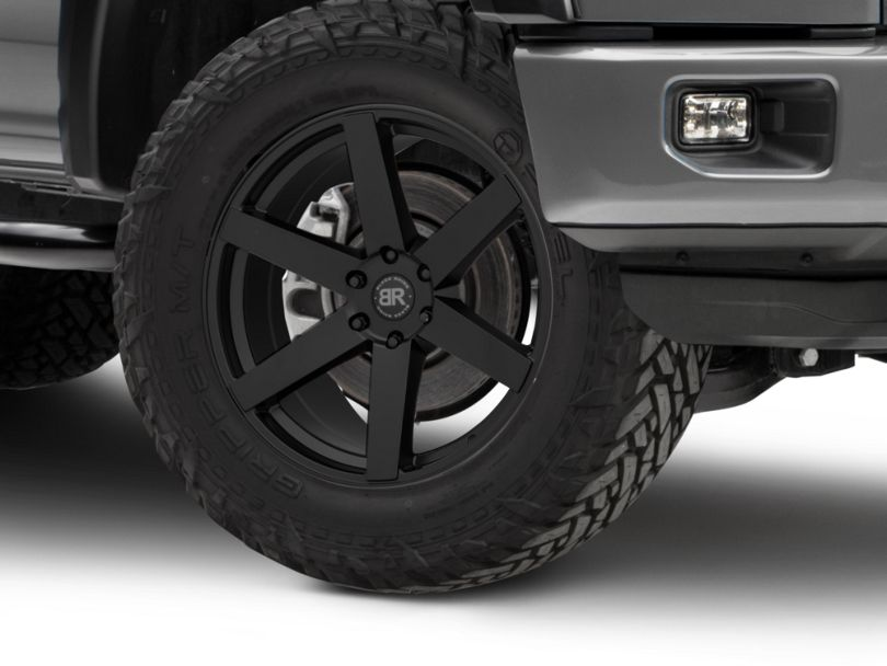 Black Rhino Karoo Matte Black 6-Lug Wheel - 22x10; 30mm Offset (15-19 F-150)