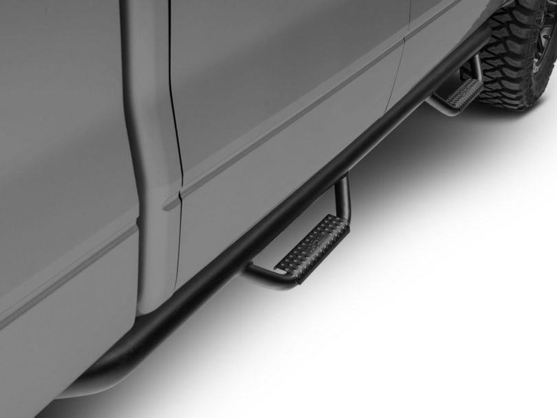 N-Fab Cab Length Nerf Side Step Bars - Textured Black (09-14 F-150 SuperCrew)