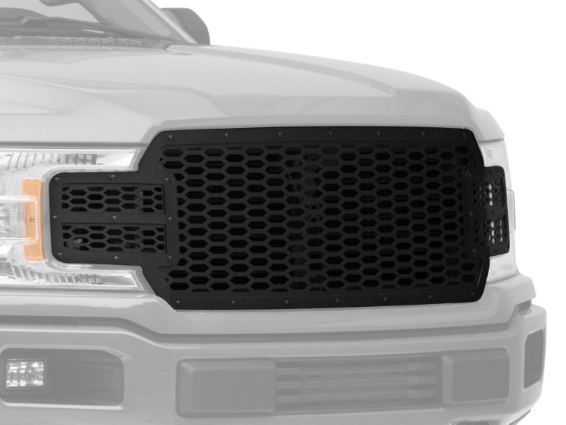Honeycomb Upper Replacement Grille; Black (18-20 F-150, Excluding Raptor)