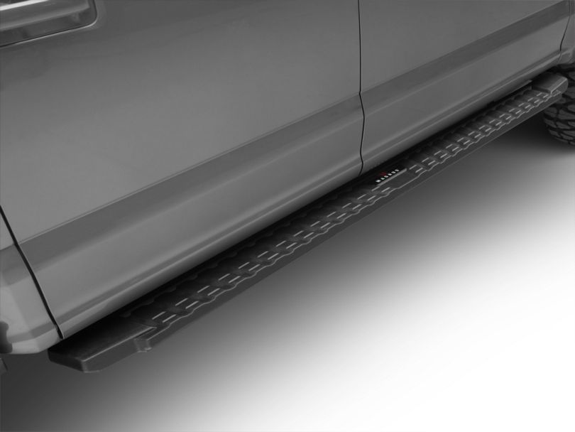 T-Style Running Boards; Black (15-20 F-150 SuperCrew)