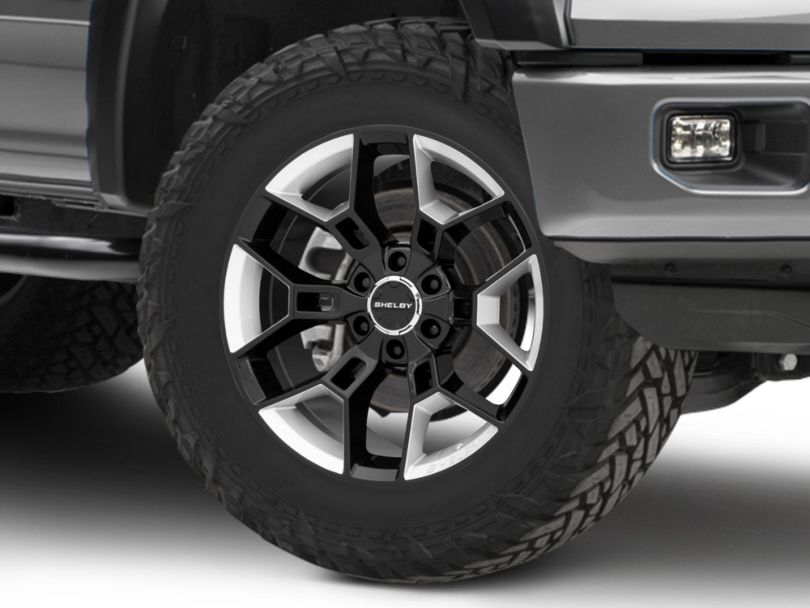 Shelby CS45 Black with Hyper Silver Inserts 6-Lug Wheel; 20x9; 12mm Offset (15-20 F-150)