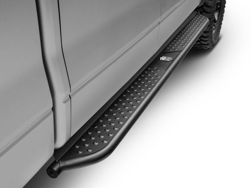 Deegan 38 Tubular Side Step Bars - Black (09-14 F-150 SuperCrew)