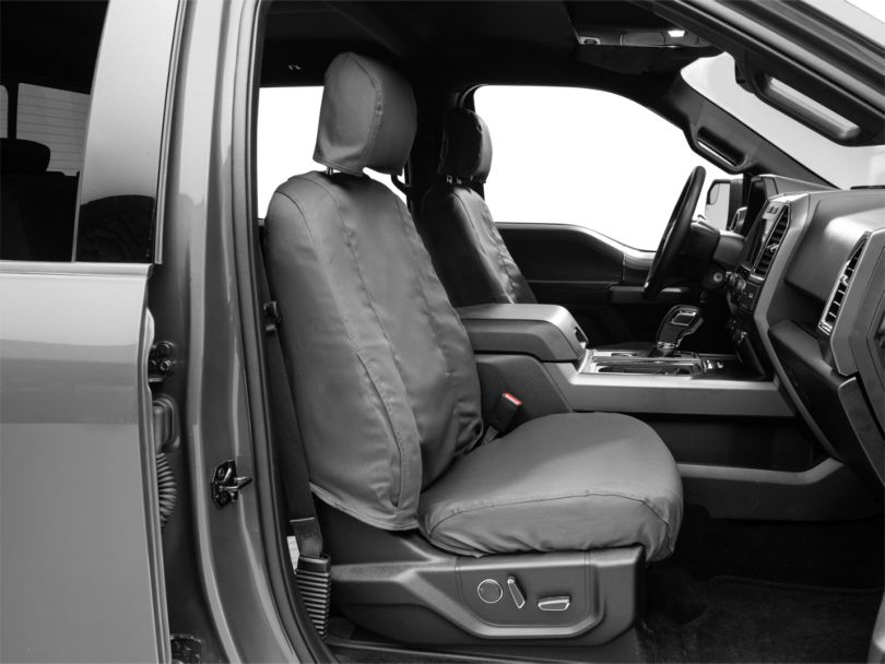 Covercraft Seat Saver Front Row Seat Covers - Charcoal (15-19 F-150 w/ Bucket Seats, Excluding Raptor)
