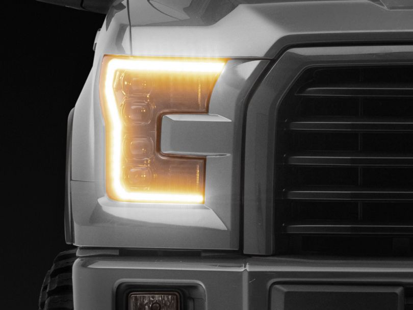 Morimoto XB Projector LED Headlights w/ Amber Daytime Running Lights (15-17 F-150 w/ Halogen Headlights)