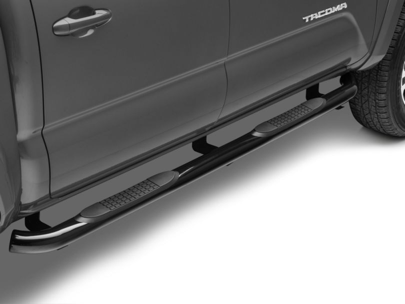 RedRock 4x4 3 in. Side Step Bars - Black (05-20 Tacoma Double Cab)