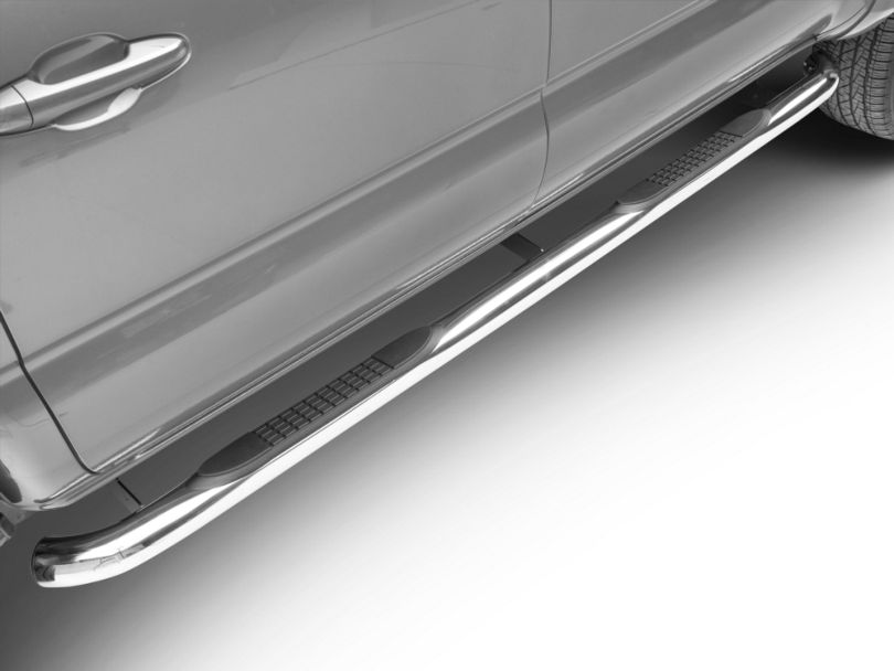RedRock 4x4 3-Inch Side Step Bars; Stainless Steel (05-20 Tacoma Double Cab)