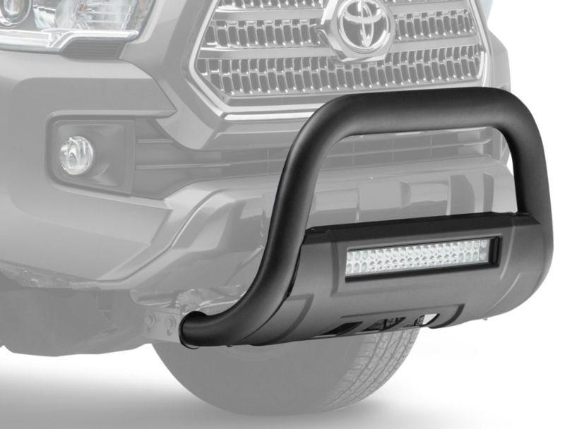 Barricade 3.5 in. Bull Bar w/ Skid Plate & 20 in. Dual Row LED Light Bar - Black (16-20 Tacoma)