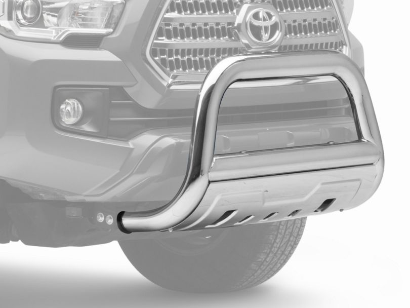 Barricade 3.5 in. Oval Bull Bar w/ Skid Plate - Stainless Steel (16-19 Tacoma)