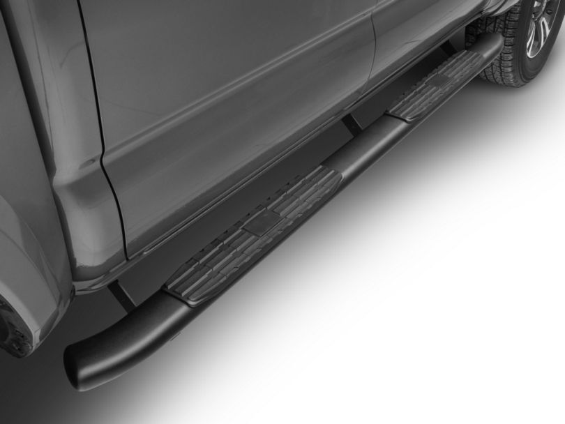 RedRock 4x4 4 in. Oval Bent End PNC Side Step Bars - Black (05-20 Tacoma Double Cab)