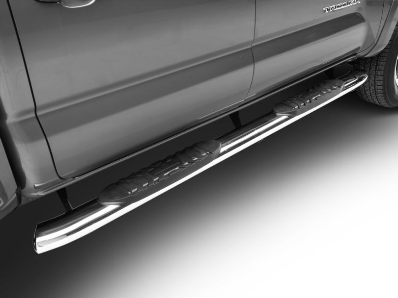Duratrek 5 in. Oval Bent End Side Step Bars - Stainless Steel (05-20 Tacoma Double Cab)