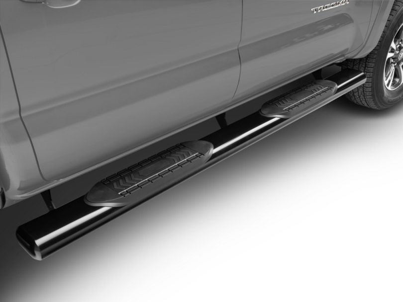 Duratrek 6 in. Oval Straight End Side Step Bars - Black (05-19 Tacoma Double Cab)