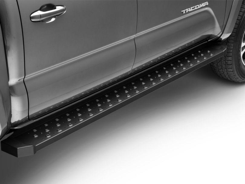 Barricade Rattler Steel Running Boards - Black (05-20 Tacoma Double Cab)
