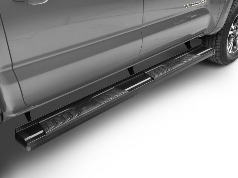 RedRock 4x4 S6 Running Boards - Black (05-20 Tacoma Double Cab)