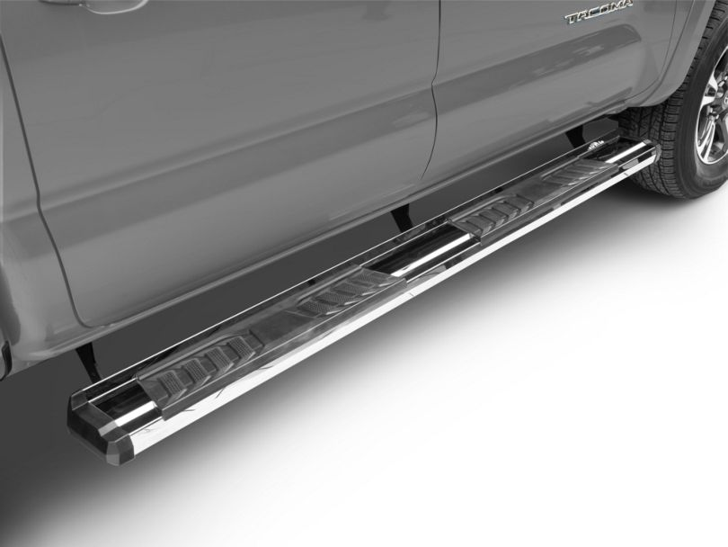 RedRock 4x4 S6 Running Boards - Stainless Steel (05-20 Tacoma Double Cab)