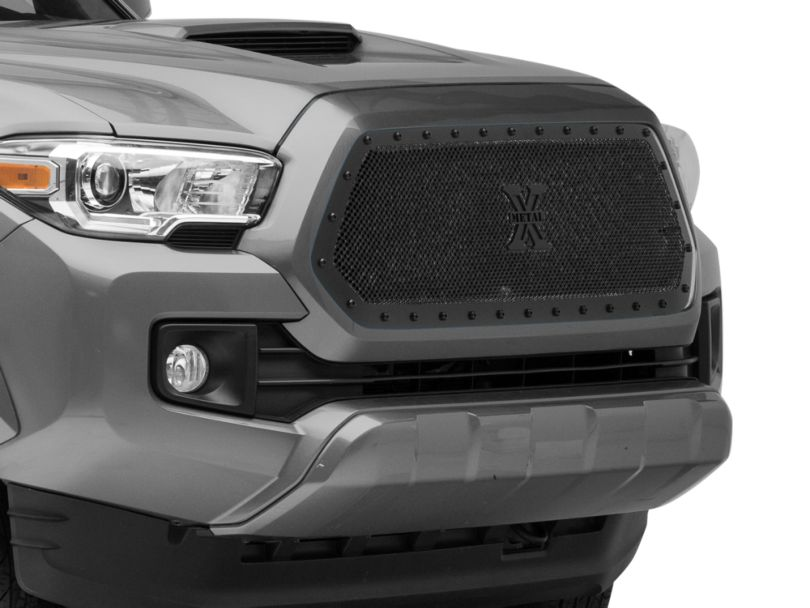 T-REX Stealth Metal Series Upper Grille Insert; Black (16-17 Tacoma)