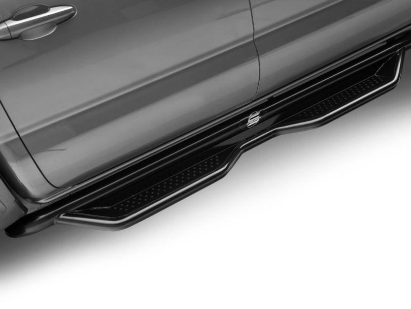 Heavy Duty Side Step Bars; Semi-Gloss Black (05-20 Tacoma Double Cab)