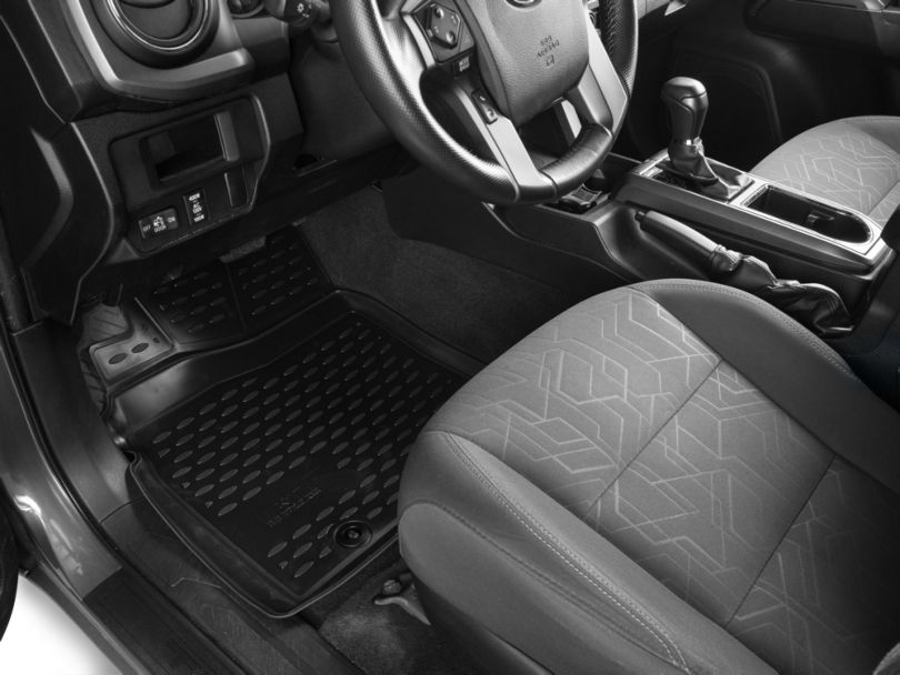 Profile Front Floor Mats - Black (12-20 Tacoma Double Cab)
