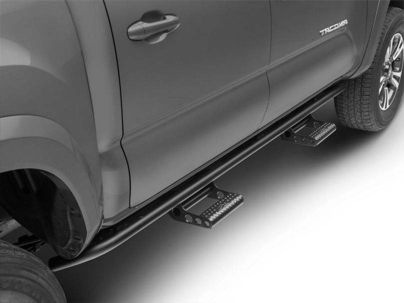 N-Fab Cab Length RKR Side Rails w/ Detachable Steps - Textured Black (16-19 Tacoma Double Cab)
