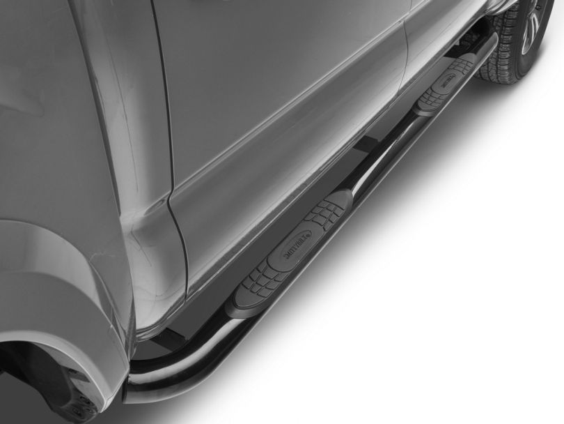 Smittybilt 3 in. Sure Side Step Bars - Gloss Black (05-20 Tacoma Double Cab)