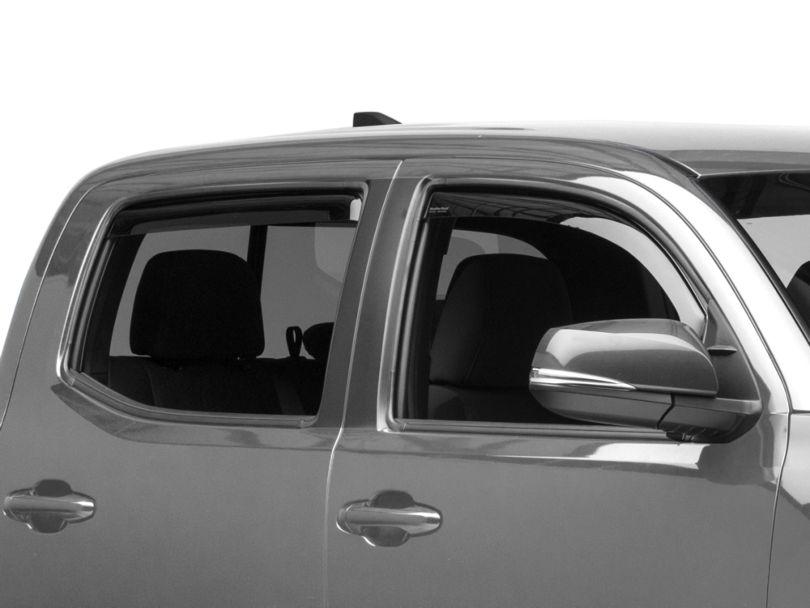 Weathertech Front & Rear Side Window Deflectors - Dark Smoke (16-20 Tacoma Double Cab)