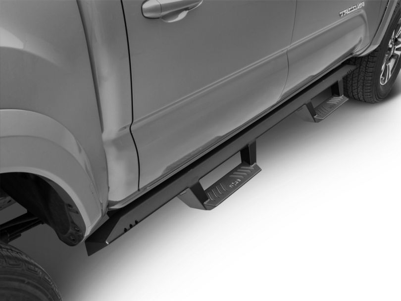 N-Fab EpYx Cab Length Nerf Side Step Bars - Textured Black (05-20 Tacoma Double Cab)
