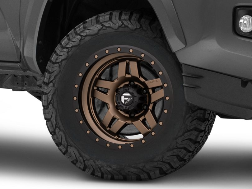 Fuel Wheels Anza Matte Bronze with Black Ring 6-Lug Wheel; 17x8.5; -6mm Offset (16-20 Tacoma)
