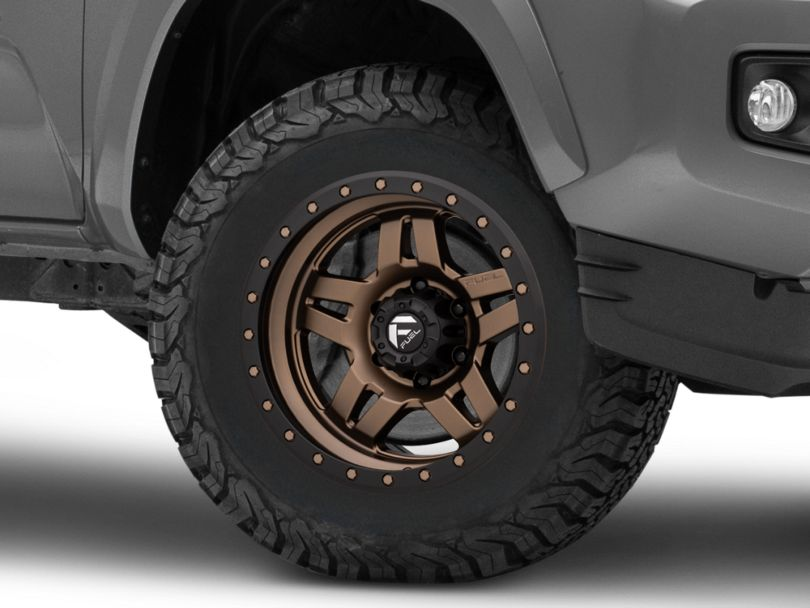 Fuel Wheels Anza Matte Bronze with Black Ring 6-Lug Wheel; 17x8.5; 6mm Offset (16-20 Tacoma)