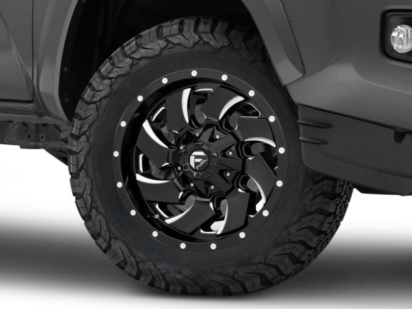 Fuel Wheels Cleaver Gloss Black Milled 6-Lug Wheel; 18x9; 1mm Offset (16-20 Tacoma)