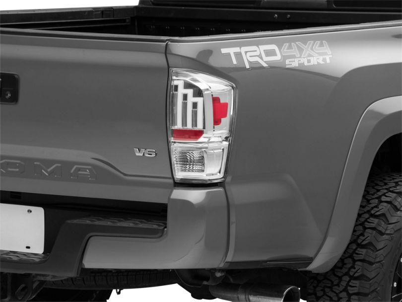 LED Tail Lights; Chrome (16-20 Tacoma)