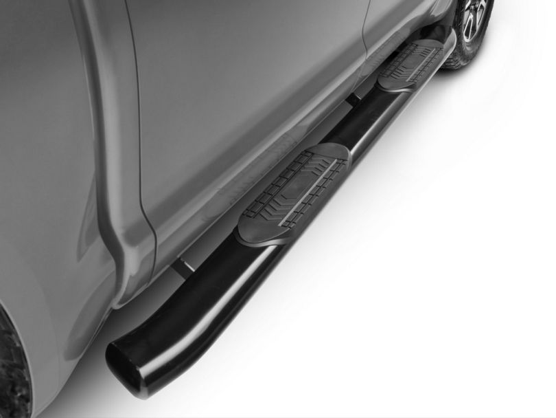 Duratrek 6 in. Oval Bent End Side Step Bars - Black (07-19 Tundra CrewMax)