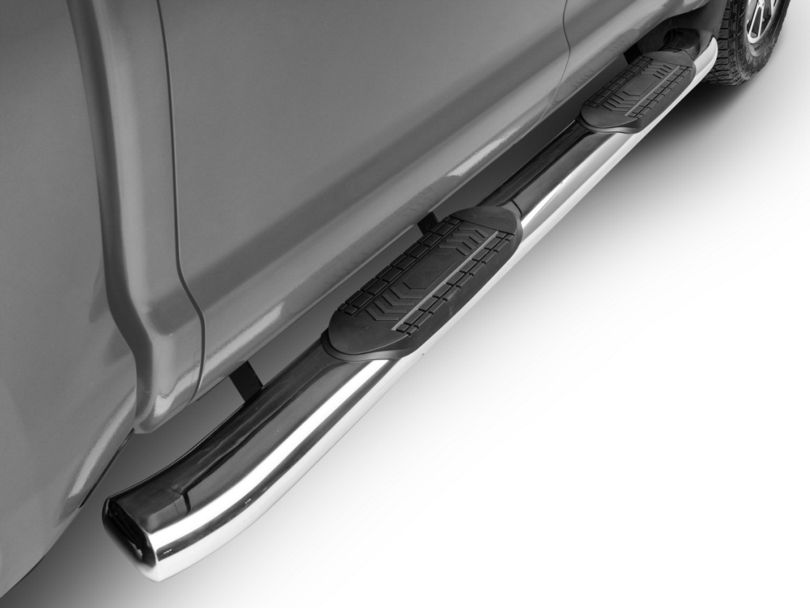 RedRock 4x4 6 in. Oval Bent End Side Step Bars - Stainless Steel (07-20 Tundra CrewMax)