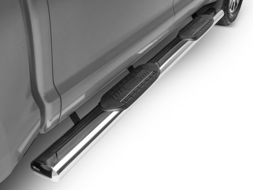 Duratrek 6 in. Oval Straight End Side Step Bars - Stainless Steel (07-19 Tundra CrewMax)