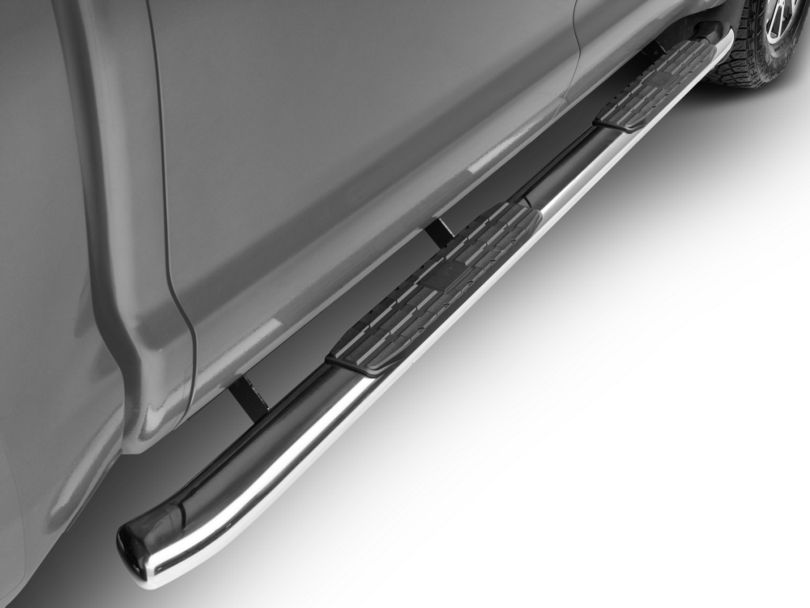 RedRock 4x4 PNC Side Step Bars; Stainless Steel (07-20 Tundra CrewMax)