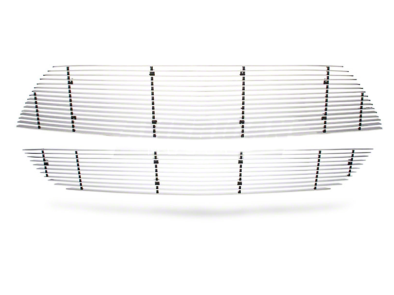 Modern Billet Upper Grille; Polished (07-09 GT500)
